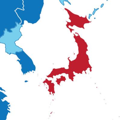 Japan IIASA - Japan map red
